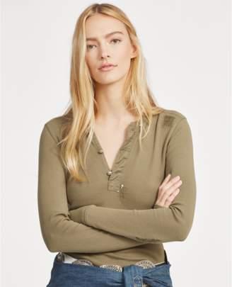 Polo Ralph Lauren Distressed Cotton Henley Shirt