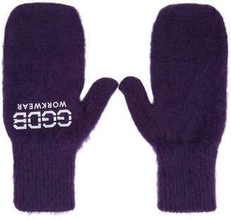 Golden Goose Purple Diddy Gloves