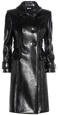 Miu Miu Miu Miu Faux Glossed-leather Coat