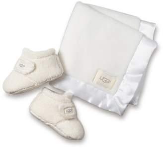 UGG Bixbee Booties & Lovey Blanket Set