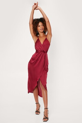 Nasty Gal Love At First Sight Wrap Dress