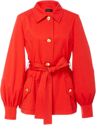 Escada Bibina Cotton Collared Jacket