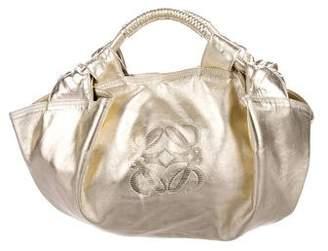 Loewe Metallic Leather Handle Bag