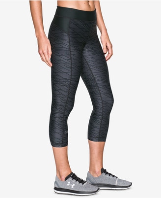 Under Armour HeatGear Printed Cropped Leggings $39.99 thestylecure.com