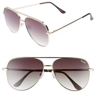 Quay x Desi Perkins Sahara 60mm Aviator Sunglasses