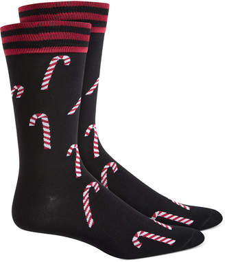 Bar III Men Candy Cane Socks