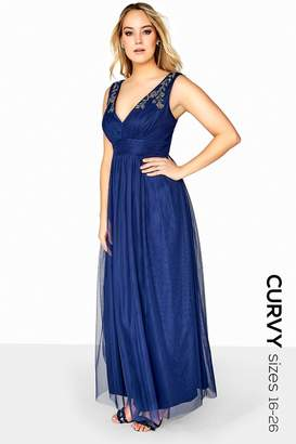 Girls On Film Outlet Navy Beaded Maxi