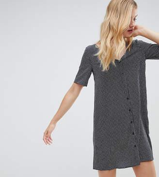 Glamorous Tall v neck shift dress in gingham