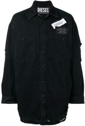 Diesel distressed shirt with patches