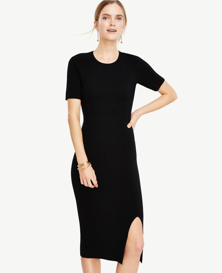 Ann Taylor Petite Sweater Sheath Dress