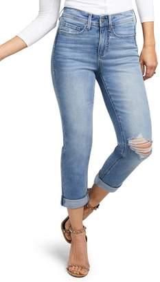 NYDJ CURVES 360 BY Slim Straight Crop Jeans (Spartan)