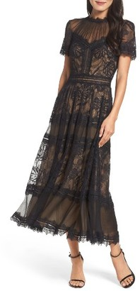 Women's Tadashi Shoji Lace Tea-Length Dress $508 thestylecure.com