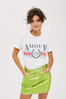 Topshop Amour Slogan T-Shirt