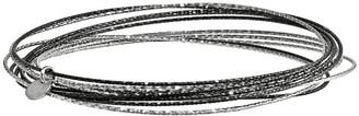 Sterling Multicolor Set of 10 Bangles
