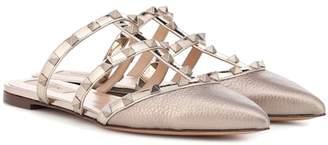 Valentino Rockstud leather slippers