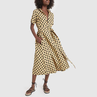 Lisa Marie Fernandez Classic Polka-Dot Linen Shirtdress