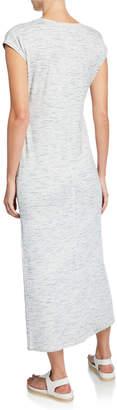 Lilla P Space-Dye V-Neck Maxi Dress