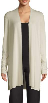 Eileen Fisher Long-Sleeve Merino Wool Open-Front Cardigan