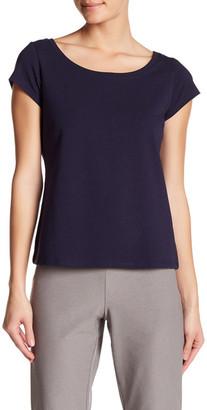 Eileen Fisher Scoop Neck Cap Sleeve Tee $78 thestylecure.com