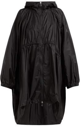 Moncler Nicosie Dolman Sleeve Gathered Waist Raincoat - Womens - Black