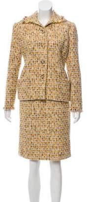 Bill Blass Tweed Knee-Length Skirt Set
