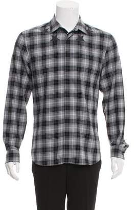 Givenchy Woven Plaid Button-Up Shirt