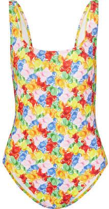 Moschino Printed Swimsuit - Yellow