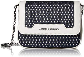 Armani Exchange A|X Small Perforated Crossbody Bag