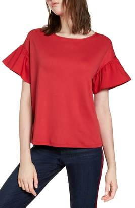 Halogen Flutter Sleeve Cotton Knit Top