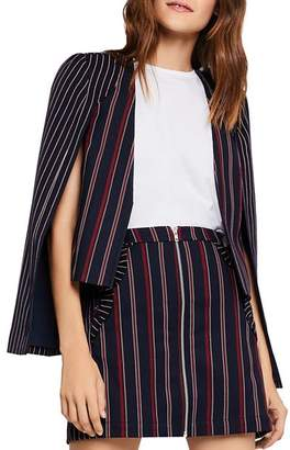 BCBGeneration Mixed-Stripe Cape Jacket