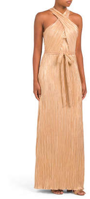 Sleeveless Sarong Top Gown