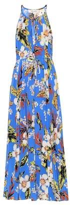 Diane von Furstenberg Floral-printed silk maxi dress