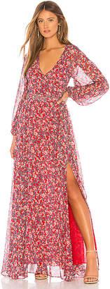 Nicholas Long Sleeve Wrap Dress