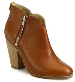 Rag & Bone Margot Leather Zip Booties $495 thestylecure.com