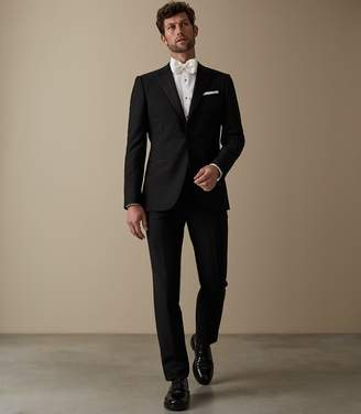 Reiss MAYFAIR Modern-fit peak-lapel tuxedo Black