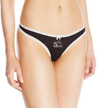 Betsey Johnson Women's Bridal Thong Panty