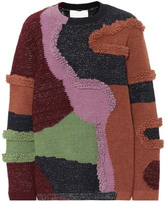 Peter Pilotto Patchwork cotton-blend sweater