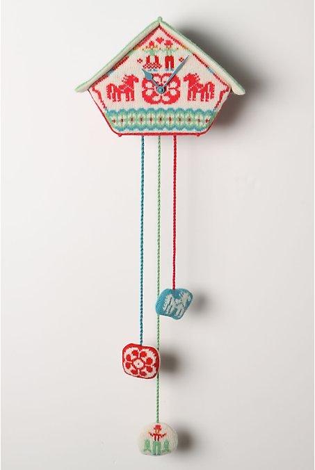 Fair Isle Sweater Clock, Horses