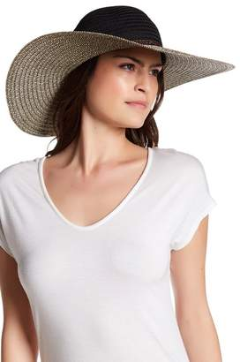 San Diego Hat Company Mixed Brim Floppy Hat