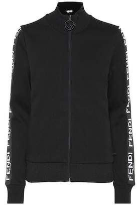 Fendi Cotton-blend jersey jacket