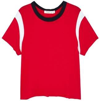 Rag & Bone JEAN JEAN Percy Red Slubbed Pima Cotton T