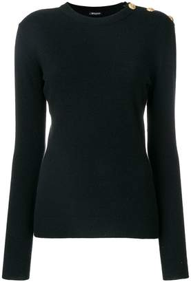 Balmain buttoned shoulder sweater