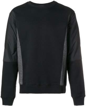 Les Hommes round neck color blocked sweatshirt