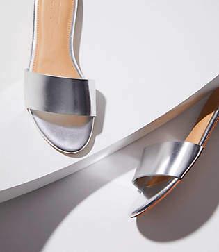 LOFT Metallic Slide Sandals