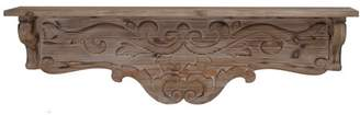 A&B Home Decorative Wall Shelf with Swirl Design