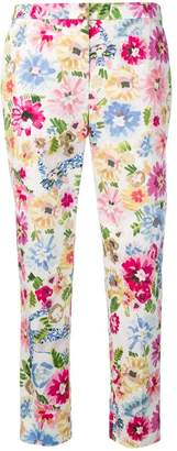 Escada floral-print trousers