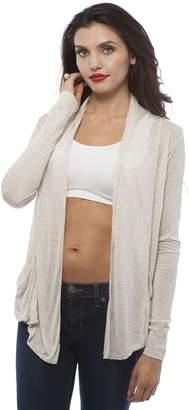 Hollywood Star Fashion Light Weight Flyaway Cardigan Shawl Collar Shrug with Drape Pockets Cardi Plus Size (3XL, )