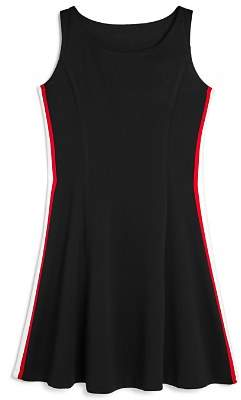 Aqua Girls' Athletic-Striped Dress, Big Kid - 100% Exclusive