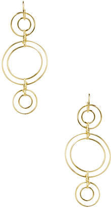 Noir Triple Tier Double Ring Statement Earrings