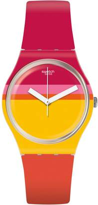 Swatch Think Fun Roug'Heure Silicone Strap Analog Watch